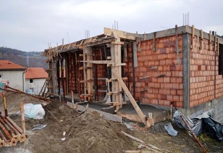 Nova kuća u izgradnji snimljeno 11. Novembra 2014